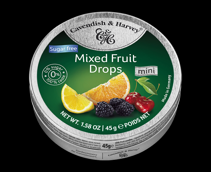 Mixed Fruit Drops Sugar Free 45g