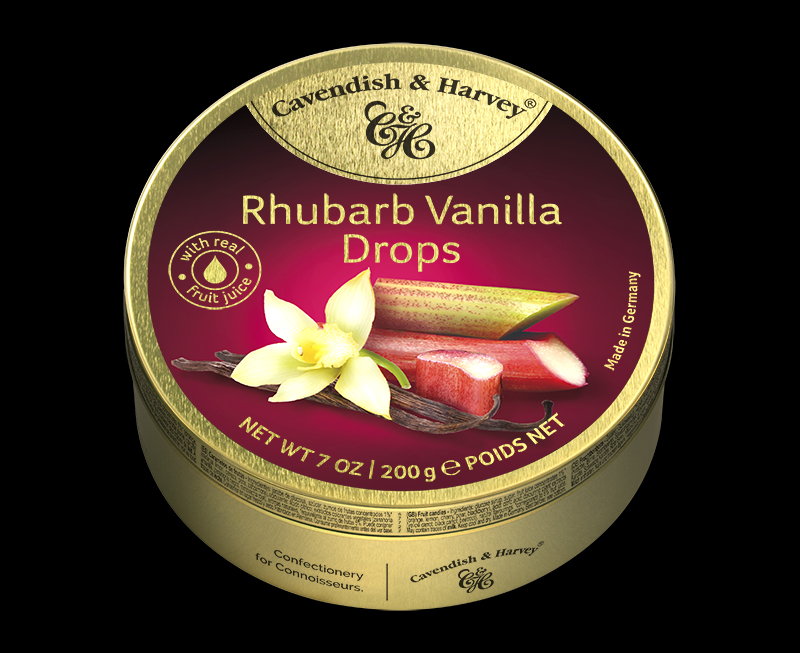 Rhubarb Vanilla Drops 200g