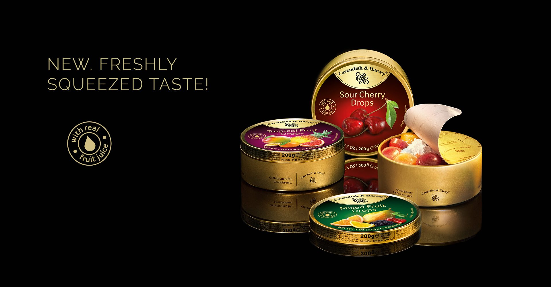 Confectionery in Tins
