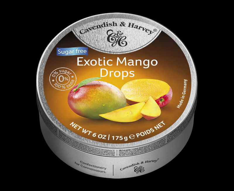 Sugar Free Exotic Mango Drops 175g
