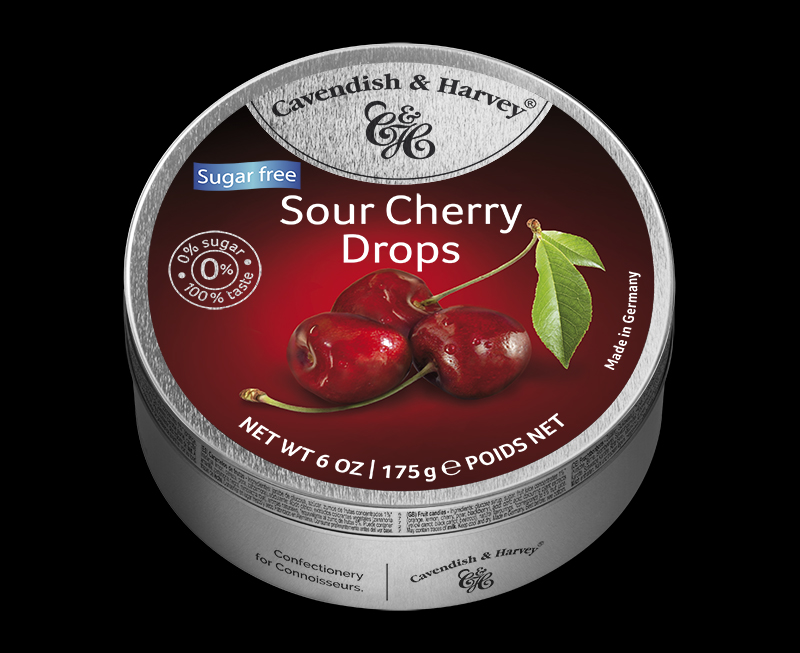 Sugar Free Sour Cherry Drops 175g