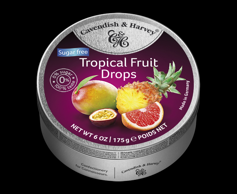Sugar Free Tropical Fruit Drops 175g
