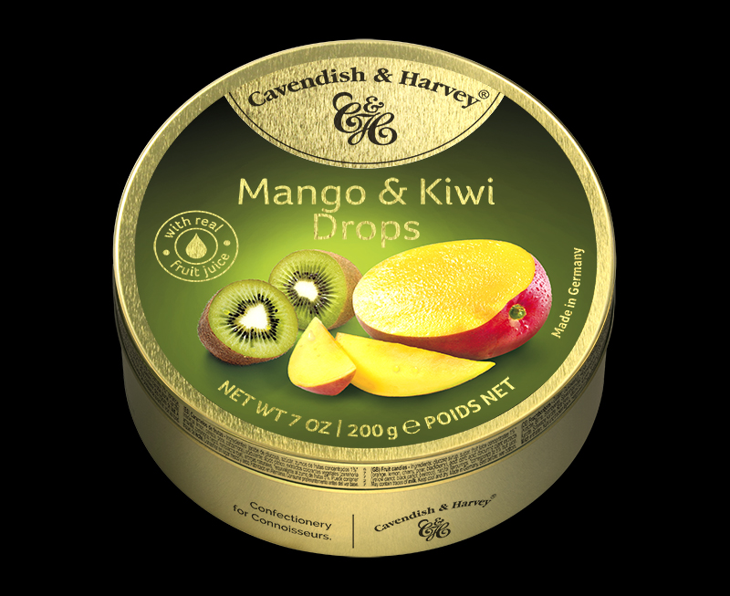 Mango & Kiwi Drops 200g