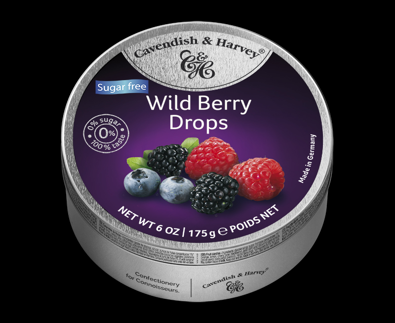Sugar Free Wild Berry Drops 175g